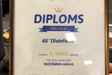 Olainfarm becomes the 3rd best Employer in the manufacturing sector and the 12th best Employer in Latvia